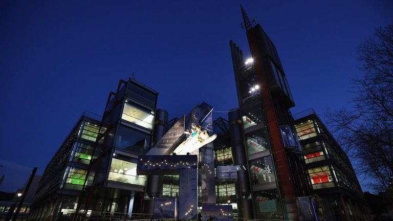 Channel Four Headquarters is Decorated For Christmas