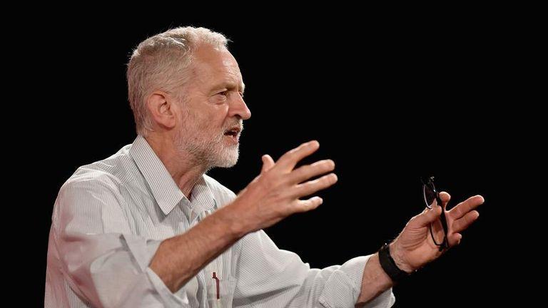 UK Labour Party Leadership Candidate Jeremy Corbyn