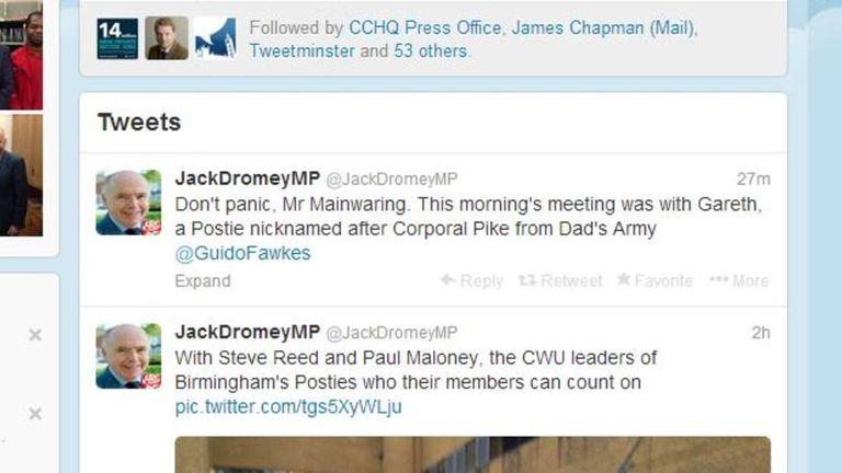 Jack Dromey tweets
