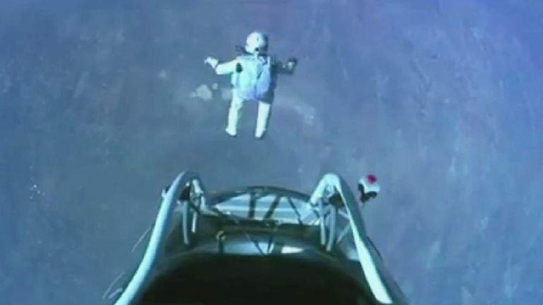 Freefall parachutist Felix Baumgartner