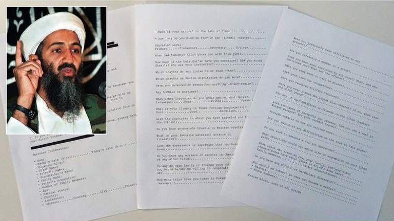 Osama bin Laden documents released