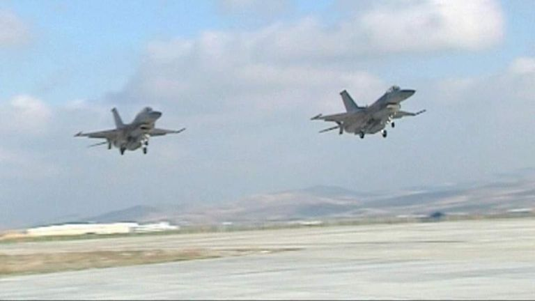 Turkey carries out airstrikes