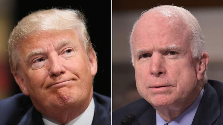 Donald Trump and John McCain
