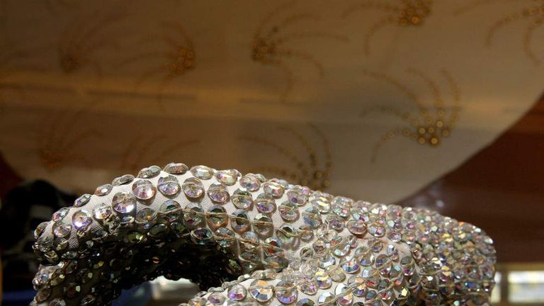 """Michael Jackson's crystal """"sequined"""" glove"""