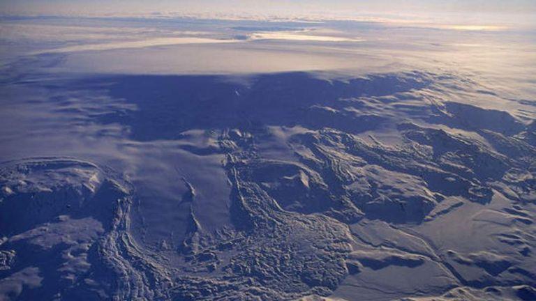 The Bardarbunga volcano in Iceland Pic: Icelandic Met Office