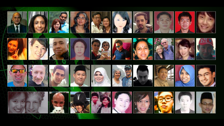 Some of the passengers on board missing Malaysia Airlines flight MH370