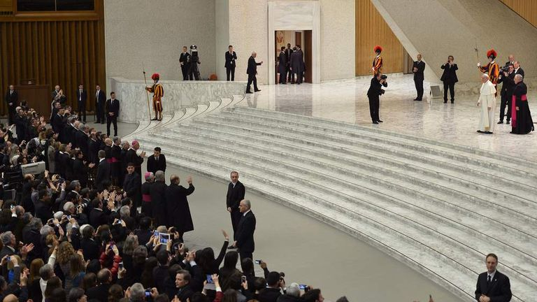 Pope with audience