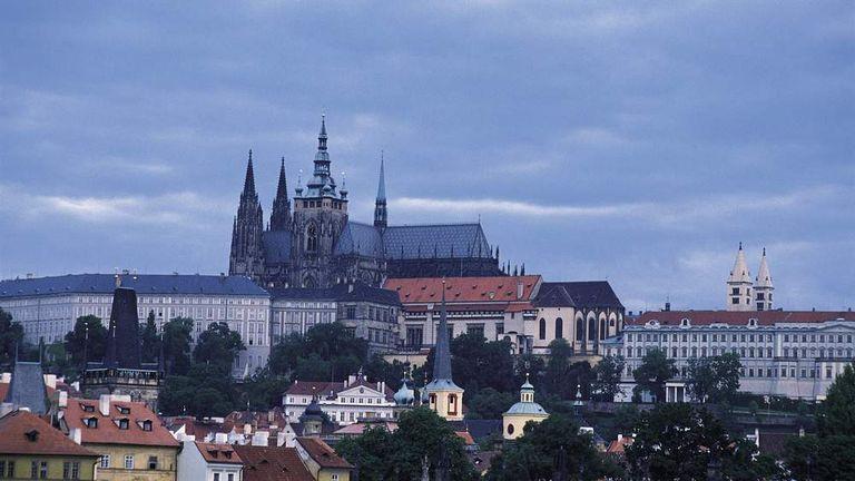 A panoramic view of Prague