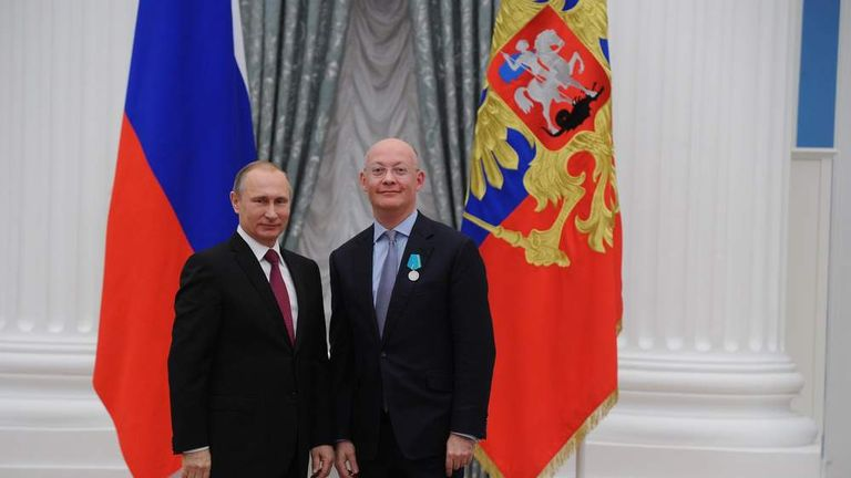 Vladimir Putin with Ian Blatchford