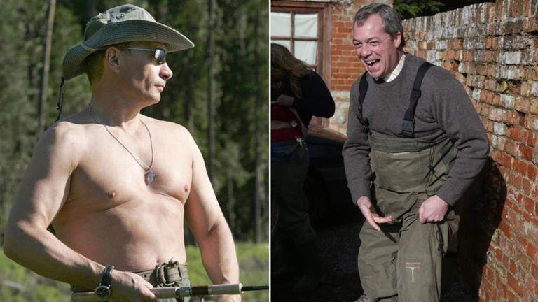 Vladimir Putin and Nigel Farage