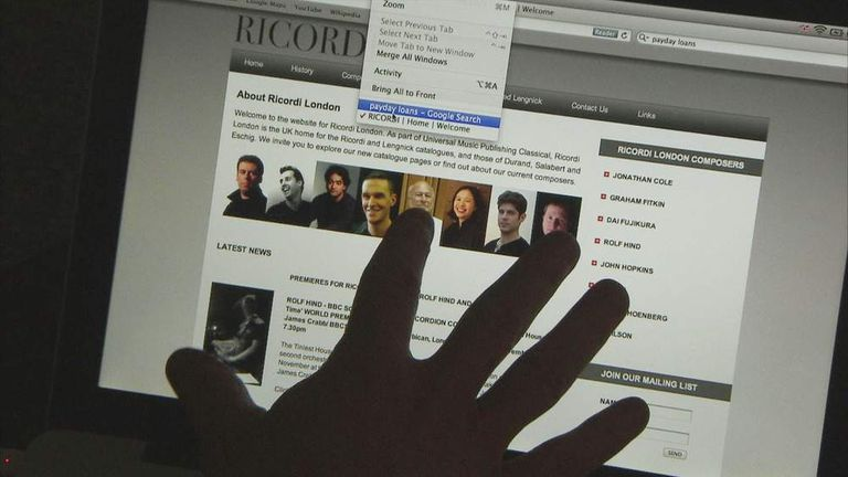 Ricordi website