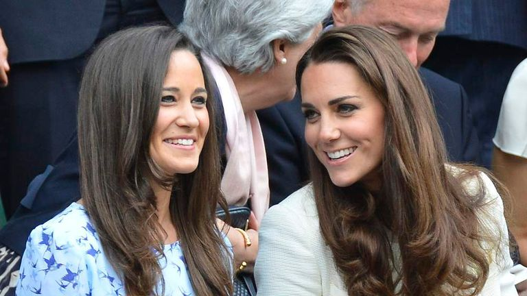 The Duchess of Cambridge and her sister Pippa Middleton.