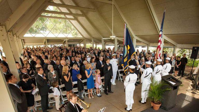 File:Neil Armstrong public memorial service ... |Neil Armstrong Funeral Service