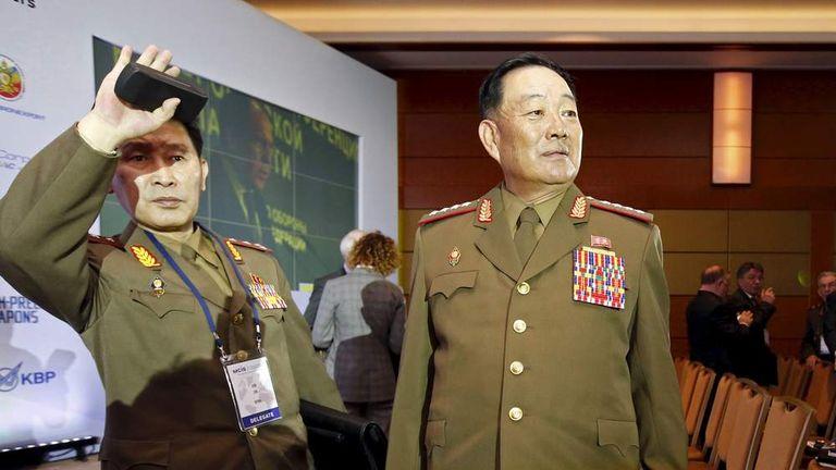 North Korea Defence Chief Hyon Yong Chol