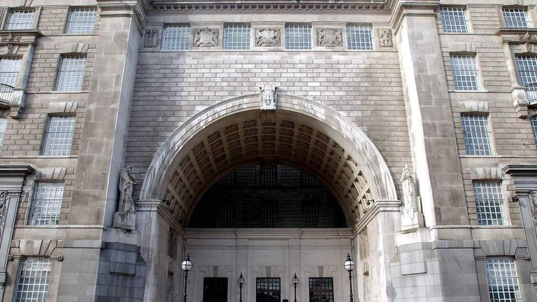 THE MI5 HEADQUARTERS IS SEEN IN CENTRAL LONDON.