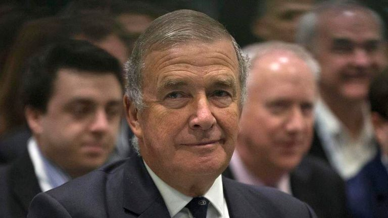 Britain's Admiral Lord West is seen at the Defence and Security Equipment International trade show in London, Britain