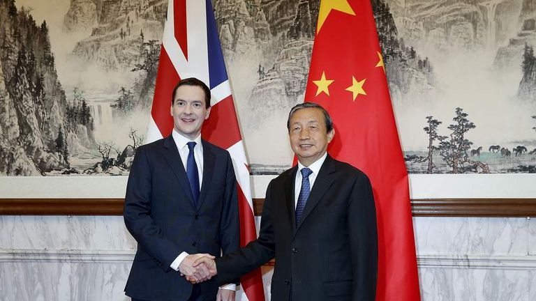 George Osborne was keen to strengthen ties with China during his time as Chancellor