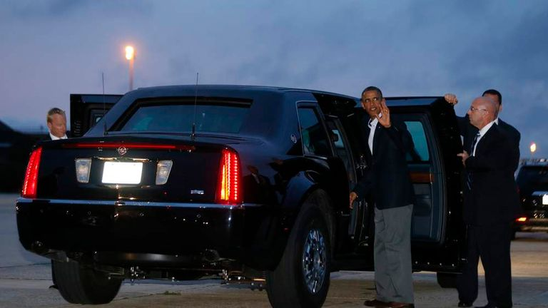 Obama gets into the Beast