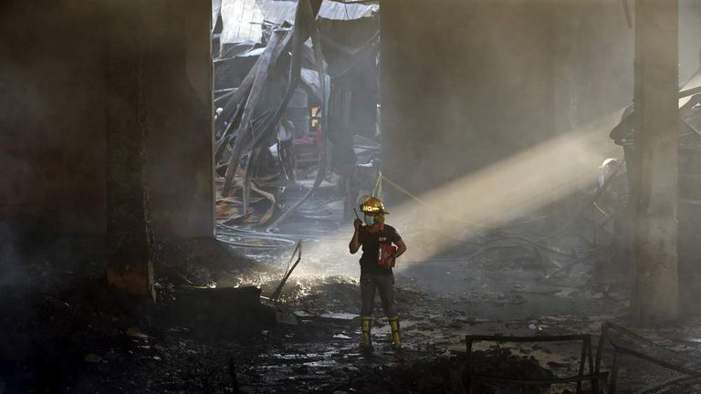 Philippines shoe factory fire
