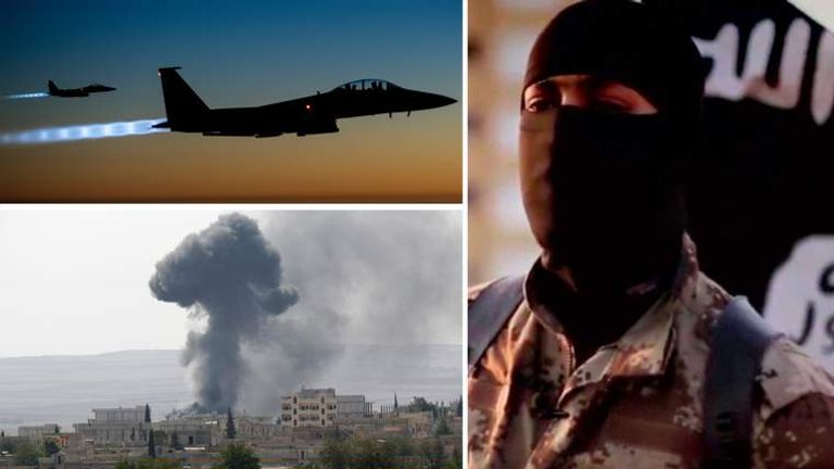 A US fighter jet, an airstrike in Syria and an IS militant
