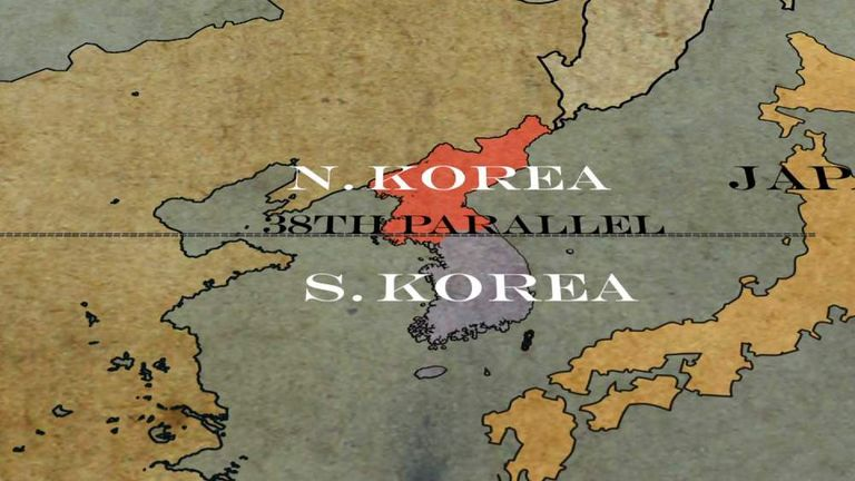 Korea A History Of The North South Split World News Sky News