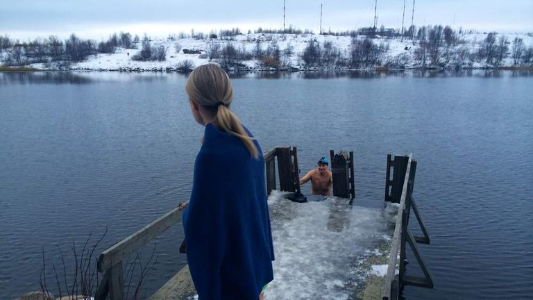 Ice swimming in Murmansk