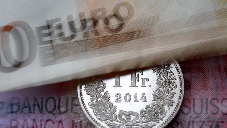 SWITZERLAND-ECONOMY-BANK-RATE-FOREX