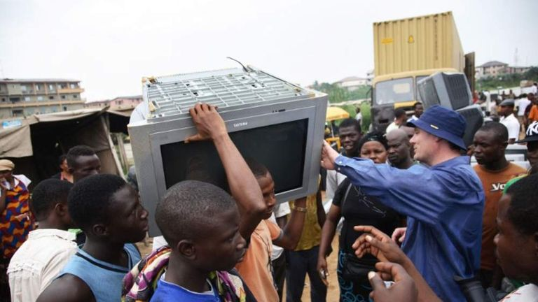 Electronic waste export to Nigeria.
