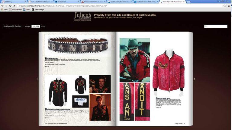 Burt Reynolds Auction