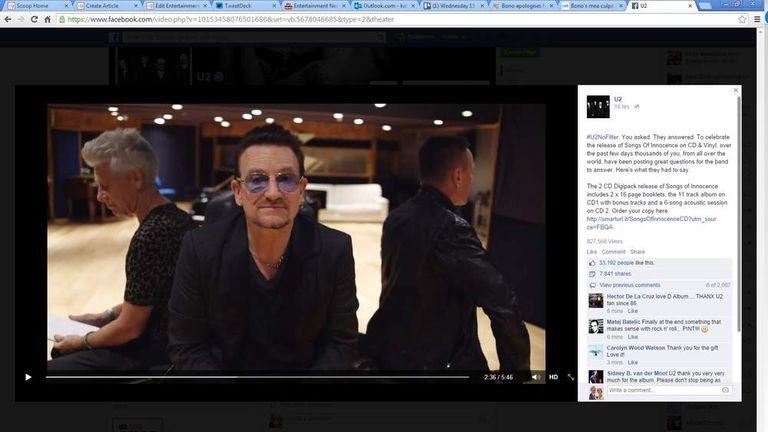 15 Oct: Bono 'Got Carried Away'