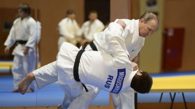 Russian President Vladimir Putin is a black belt in judo