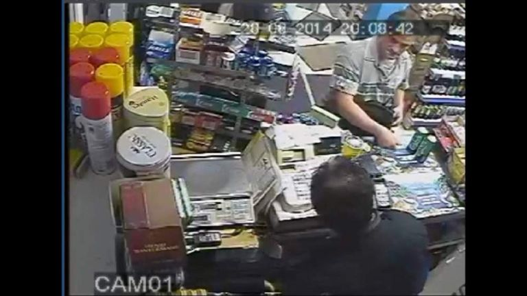 A grab from CCTV footage showing Arnis Zalkalns on the day Alice Gross went missing