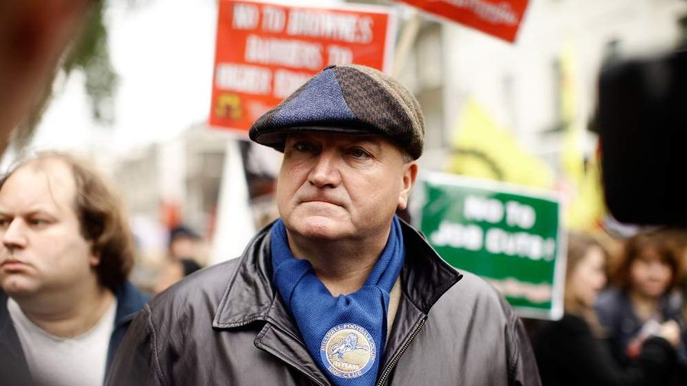 Bob Crow, General Secretary of the RMT union.