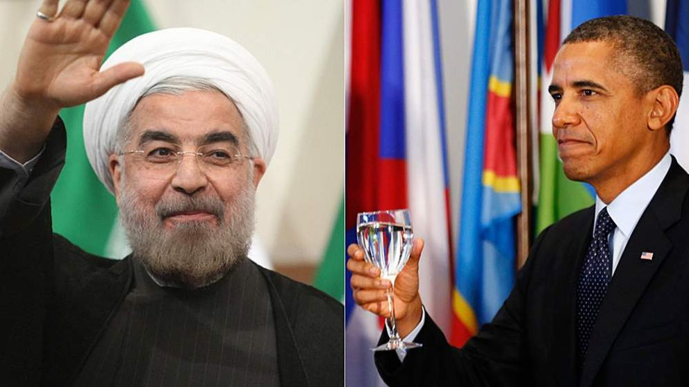 Iran leader Hassan Rouhani and US President Barack Obama