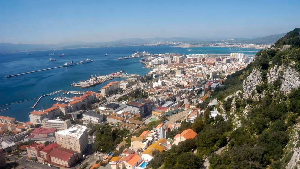 A view of Gibraltar from the top of the rock