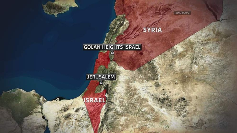 Map of Golan Heights
