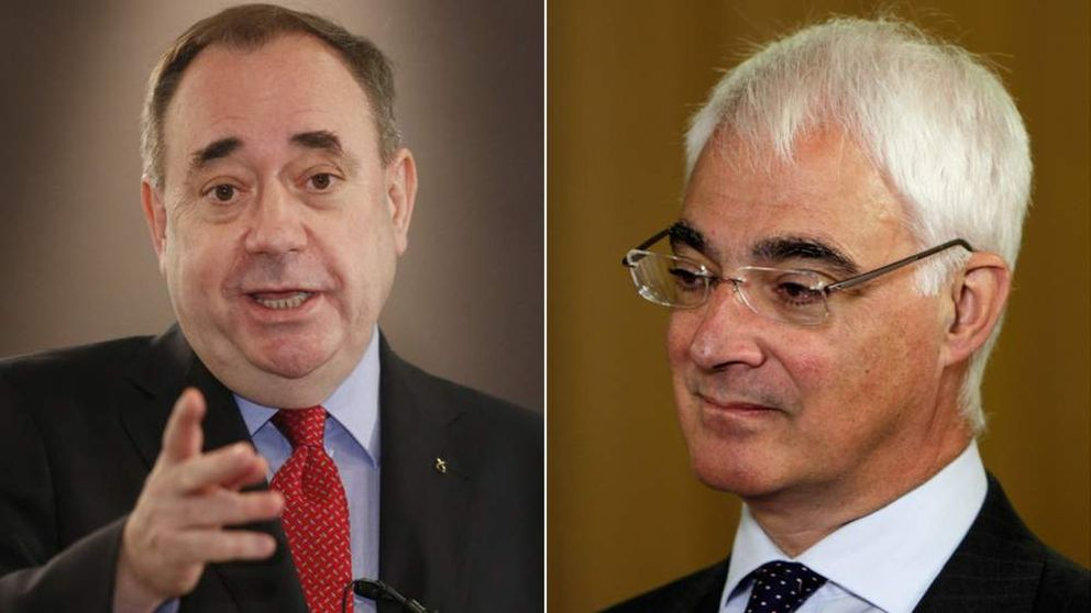 Alex Salmond and Alistair Darling.