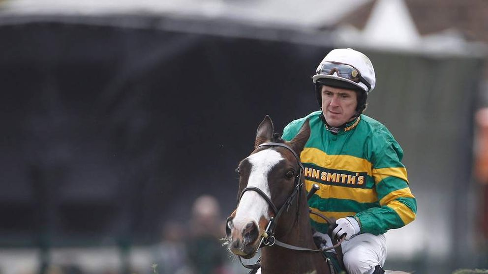 Tony McCoy surveys the first fence prior to 165th John Smith's Grand National Steeple Chase at Aintree