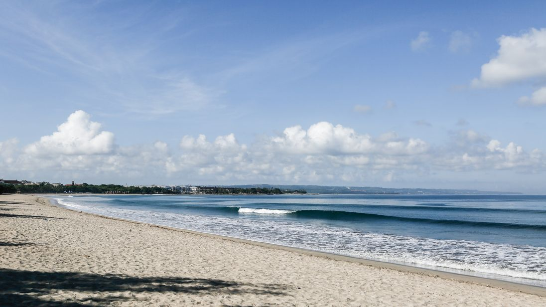 Kuta beach, in the south of Bali,  is a popular place for tourists to party