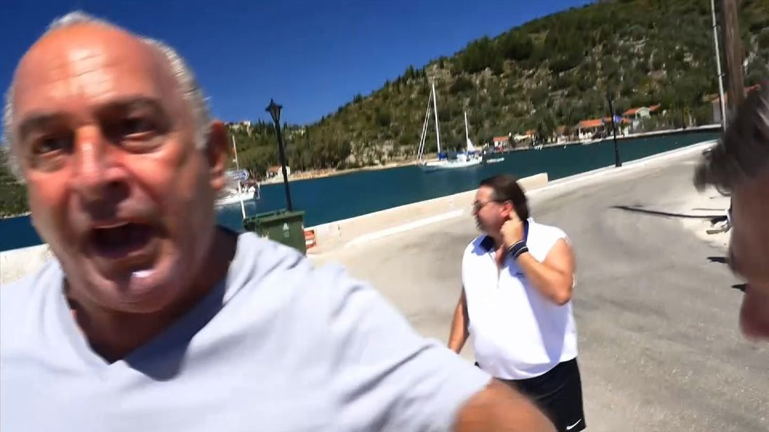 Sir Philip Green asked Sky News: 'Will you go away?'