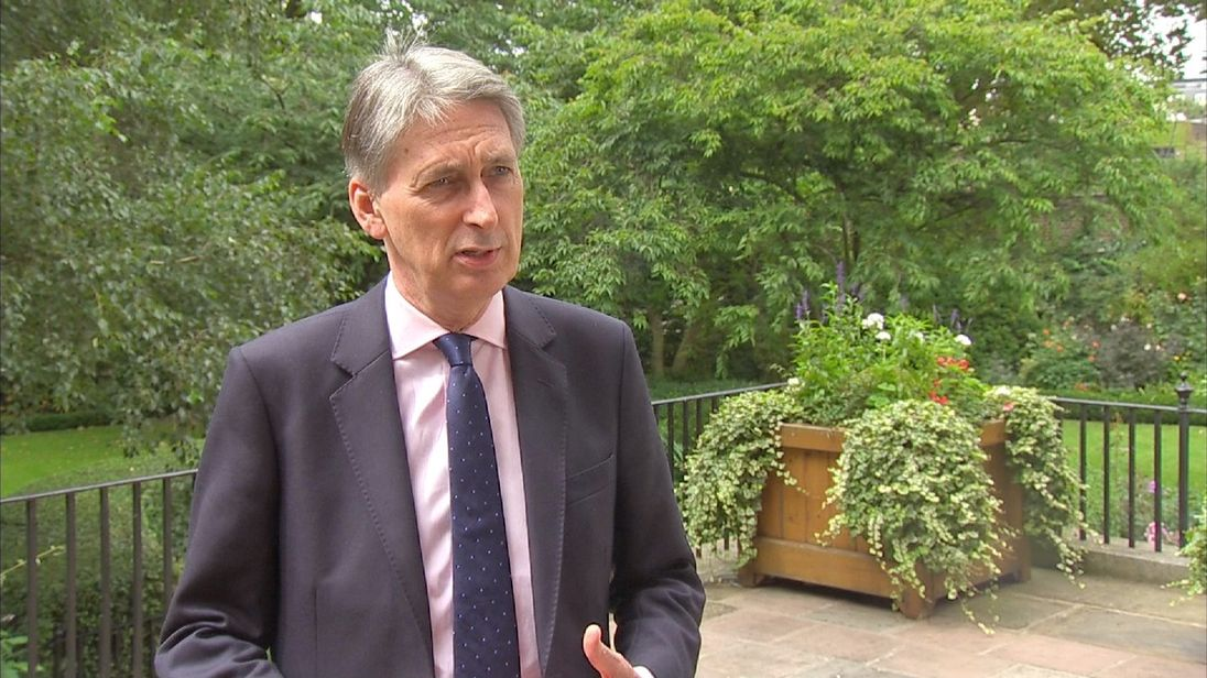 Philip Hammond comments on Bank Of England's interest rate cut