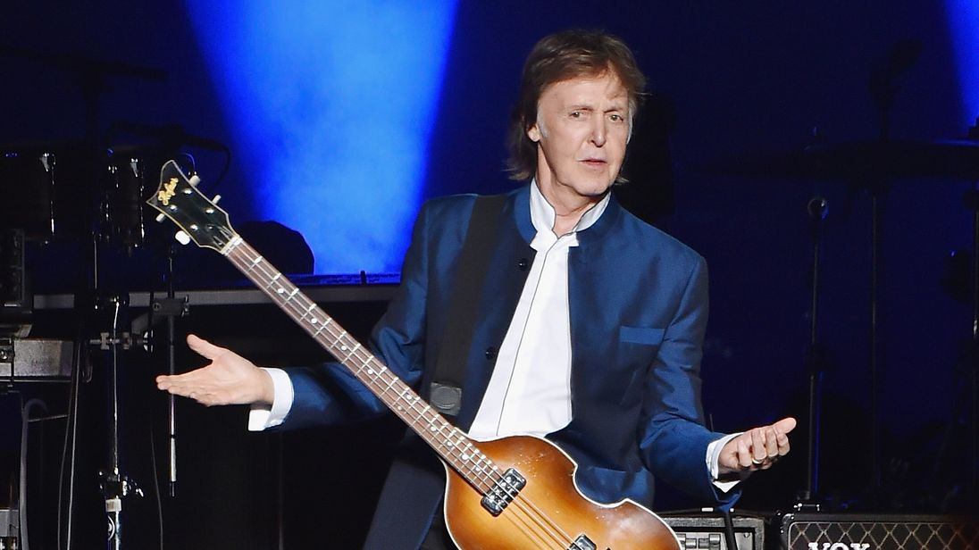 Paul McCartney performs in concert in New Jersey