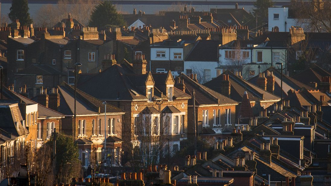 Houses in southeast London. File picture