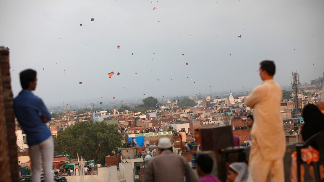 Kite flying is a popular pastime in India