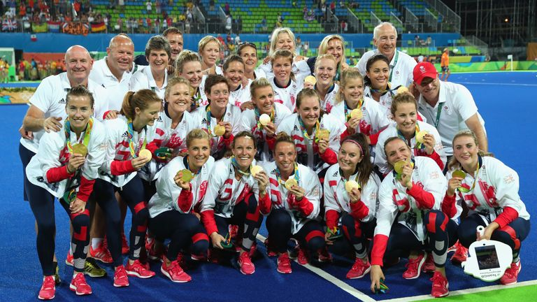 Team GB's gold medal winning women's hockey team reflect on their success at the Rio Olympics