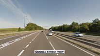 The man was struck on the M66 motorway. Pic: Google Street View
