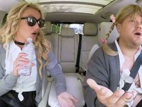 US pop star Britney Spears teams up with James Corden for Carpool Karaoke