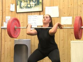 Woman lifts weights gerenic