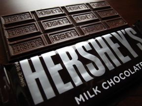 A Hershey's chocolate bar