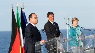 Francois Hollande, Matteo Renzi and Angela Merkel